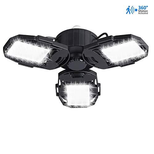 Motion Activated LED Garage Lights, 80W Motion
