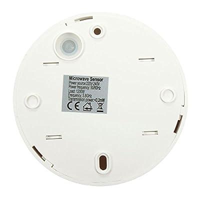 SK-701 AC 220V-240V 5.8GHz Microwave Radar Sensor Body Motion HF Detector Light Switch