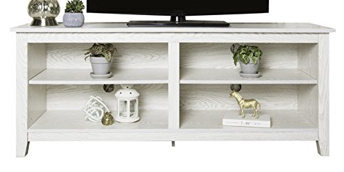 White Kids Furnitures - WE Furniture AZ58CSPWW TV Stand, 58