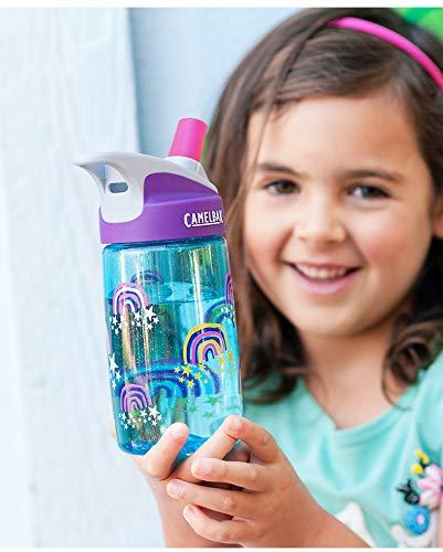Flgoo 4 Bite Valves /& 2 Straws Fit All CamelBak Eddy Kids Water Bottle
