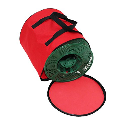 Set of 5 Christmas Light Storage Reels with Red and Green...