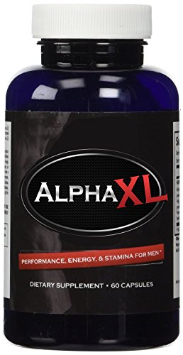 Alpha XL - The #1 Most Potent & Powerful Male Supplement Pills Ideal for Men with Low T Testosterone Levels! All Natural & Clinically Proven Ingredients Performance Booster 1 Bottle Supply ()