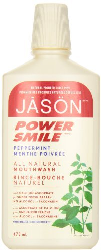 JASON PowerSmile Brightening Peppermint Mouthwash, 16 Ounce Bottles (Pack of (Jason Natural Products Peppermint Toothpaste)
