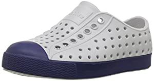 Native Kids Jefferson Water Proof Shoes, Mist Grey/Regatta Blue, 13 Medium US Little Kid