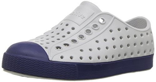 Native Kids Jefferson Water Proof Shoes, Mist Grey/Regatta Blue, 13 Medium US Little Kid from Native