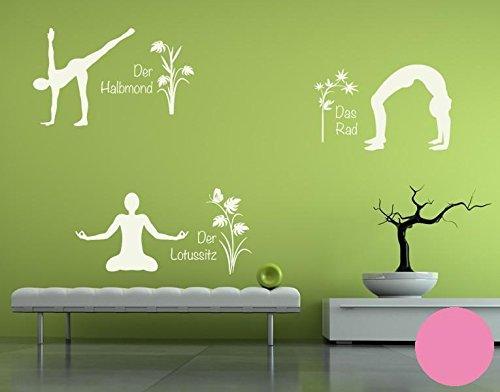 Klebefieber Wandtattoo Yoga Figuren Set 4 4 4 B x H  110cm x 170cm Farbe  Creme B071DWJJ7S Wandtattoos & Wandbilder cd951a