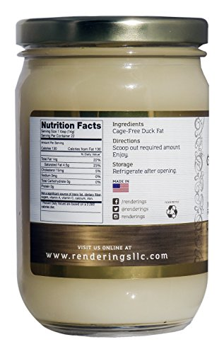 Renderings Duck Fat, Premium Cage-Free, Gourmet Cooking Oil, 11 oz by Proper Foods For Life (Image #3)