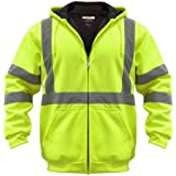 Utility Pro UHV425 Polyamide High-Vis Hooded Soft Shell Jacket with Side Pockets with Dupont Teflon fabric protector,  Lime,  X-Large
