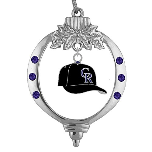 Final Touch Gifts Colorado Rockies Baseball Cap Ornament