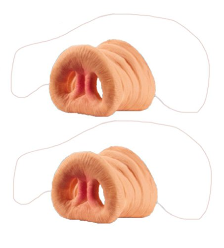 Lee store 2 pcs Latex Plastic Pink Pig Nose with Elastic Band Mask Halloween Party Costume Decorations