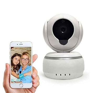 Cámara Domo Estática,Cámaras De Vigilancia Seguridad,Vigilabebé WiFi Monitor Remoto Seguridad Bebé Mascotas
