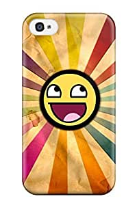 [KgzmEuQ3231gUXDY] - New Happy Smiley Stripes Protective Iphone 4/4s Classic Hardshell Case