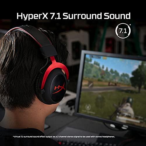 Headset Gamer Hyperx Cloud II, Kingston, KHX-HSPC-RD, Preto e Vermelho