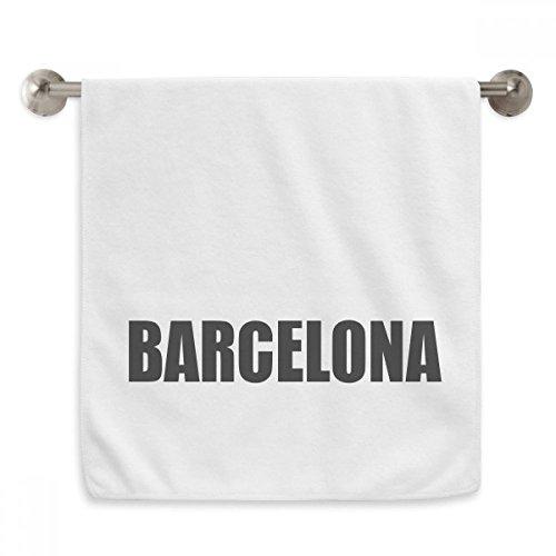 DIYthinker Barcelona Spain City Name Circlet White Towels Soft Towel Washcloth 13x29 Inch by DIYthinker