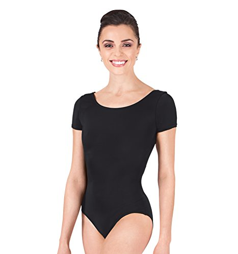 ance Leotard,D5102BLKL,Black,Large (Adult Short Sleeve Leotard)