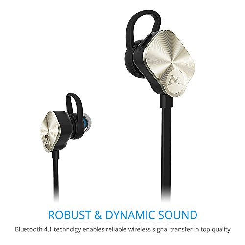 a511a01f2dd Amazon.com: Mpow Wolverine Bluetooth Headphones V4.1 Wireless Sport  Headphones Noise Cancelling In-ear Stereo Earbuds 8-Hour Playing Time with  Mic for ...