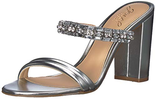 Badgley Mischka Jewel Women's Katherine Heeled Sandal Silver/Metallic 8 M - Jewel Metallic Sandals