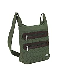 Lug Sidesaddle Cross Body Bag, Fern Green