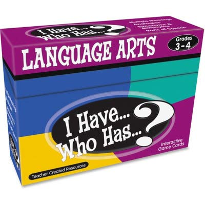 - I Have WHO HAS Language Arts Games GR 3-4 - TCR7816