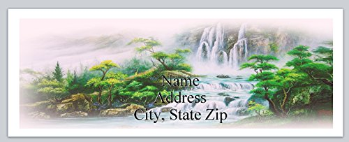 150 Personalized Address Labels Scenic Waterfall (P 446) ()