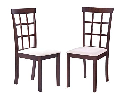 Harper Bright Designs Rustic Dining Chairs Set of 2 on Rubber Wood Dining Side Chair with Microsuede Upholstered Seat Set of 2 Chairs