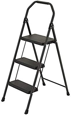 Magnificent Amazon Com Gorilla Ladders 3 Step Compact Steel Step Stool Pdpeps Interior Chair Design Pdpepsorg