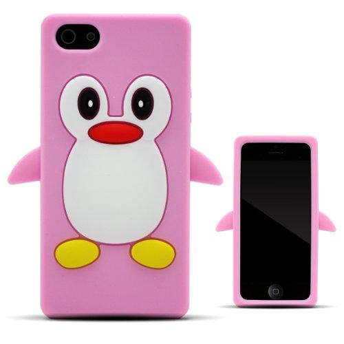 Zooky® rosa Pinguin Hülle / Schutzhülle / Cover für Apple Iphone 5 / 5S / SE