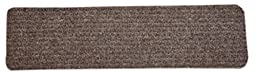 Dean Carpet Stair Treads/Runners/Mats/Step Covers - Brown Ribbed Indoor/Outdoor Non-Skid Slip Resistant Rugs (7, 30\