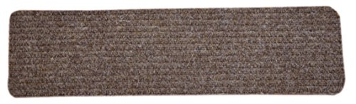 Dean Carpet Stair Treads/Runners/Mats/Step Covers - Brown Ribbed Indoor/Outdoor Non-Skid Slip Resistant Rugs (7, 30