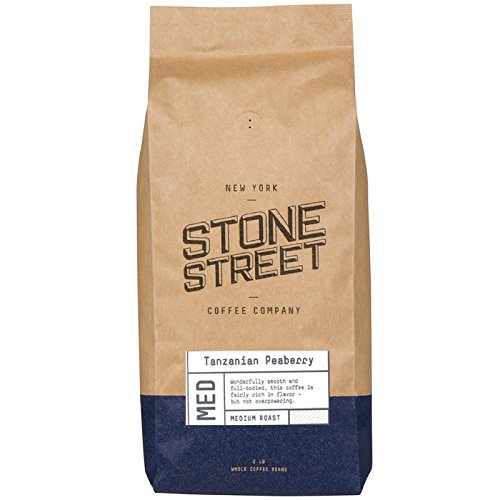 (TANZANIA PEABERRY 'Mount Kilimanjaro' Whole Bean Coffee | Light/Medium Roast | 2 LB Bag | Single Origin)
