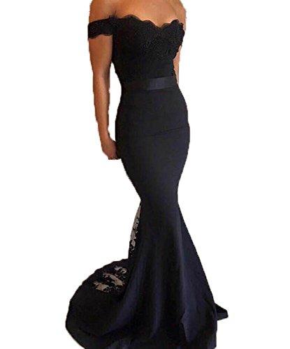 long black mermaid bridesmaid dresses - 6