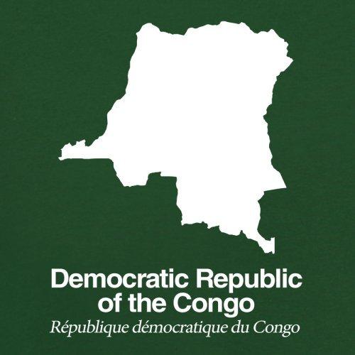 Democratic Republic of the Congo / Demokratische Republik Kongo Silhouette - Herren T-Shirt - Flaschengrün - S