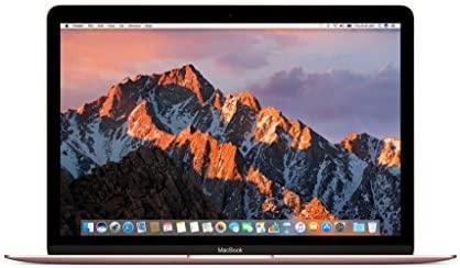 Apple 12 Inch MacBook Laptop (Retina Display, 1.2GHz Intel Core m3 Dual Core Processor, 8GB RAM, 256GB SSD Storage, Intel HD Graphics, Mac OS) Rose Gold, MNYM2LL/A (Renewed)
