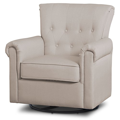 Swivel Glider Rocker Chair - Delta Children Harper Glider Swivel Rocker Chair, Flax