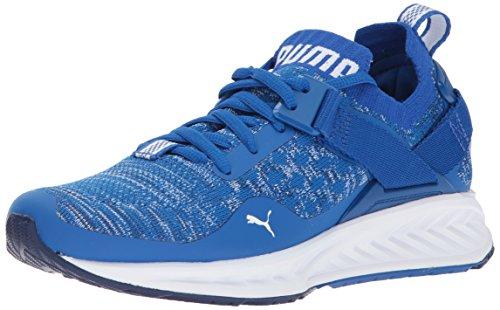 PUMA Kids' Ignite Evoknit Lo Jr Sneaker,Lapis Blue White,4.5 M US Big Kid by PUMA