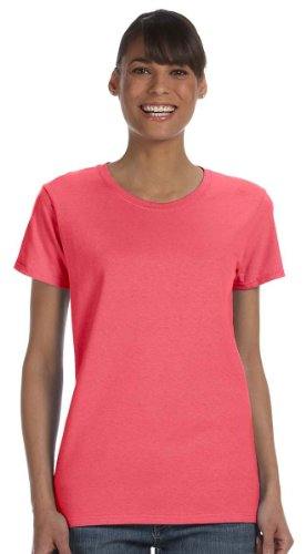 Gildan Heavy Cotton Ladies 5.3 oz. Missy Fit T-Shirt, XL, CORAL SILK