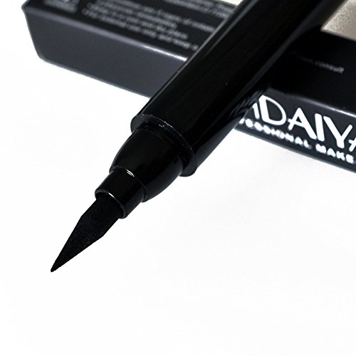 1 PCS Eyeliner Stamp Makeup Waterproof Long Lasting Liquid Eye liner Pen Cosmetic Tool for winged Cat Eye - Black