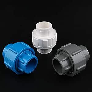 Kammas Conector de tuber/ía Recta de PVC Hembra de 1//2 Pulgada a 1//2 Pulgada 21,3 mm
