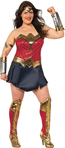 Rubie's Wonder Woman Adult Deluxe Costume, Plus Size (Top Halloween Costumes 2017 Adults)