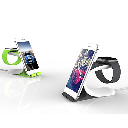 Apple Watch Stand, LOCA 2-in-1 Smart Watch Charging Holder for Apple iWatch 1/2 & Sturdy Stand for iPhone, iPad All Edition