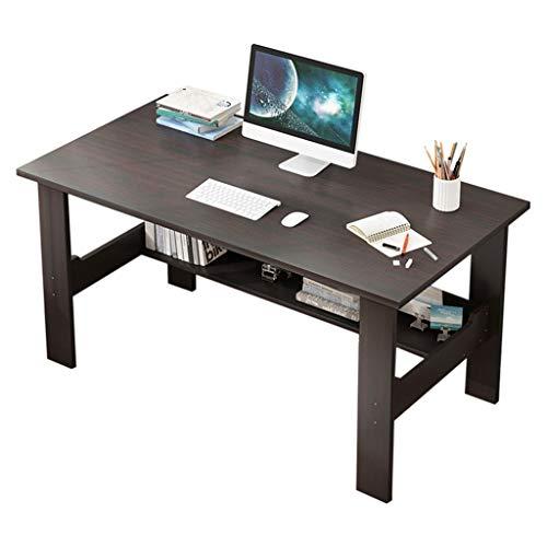 Household Simple Desktop Computer Desk Bedroom Laptop Study Table Office Desk Workstation Modern Home Furniture (Black)
