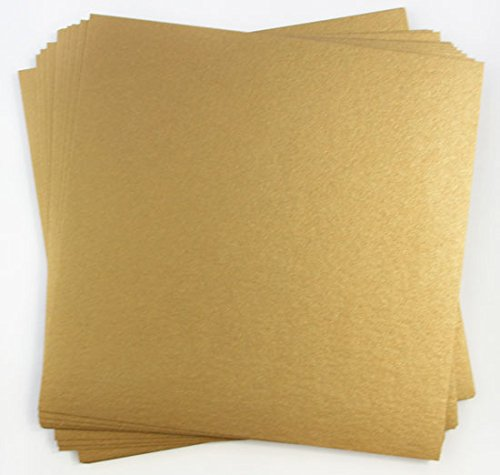 Stardream Antique Gold Metallic Cardstock - 12 x 12, 105lb Cover, 25 Pack by LCI Paper