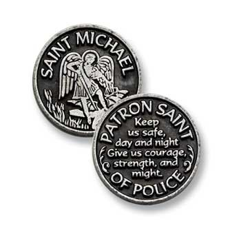 Cathedral Art PT409 Saint Michael Pocket Token, 1-Inch - Good Luck Token