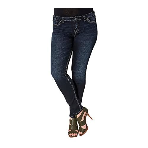 on sale Silver Jeans Co. Plus Size Suki Mid Rise Super Skinny