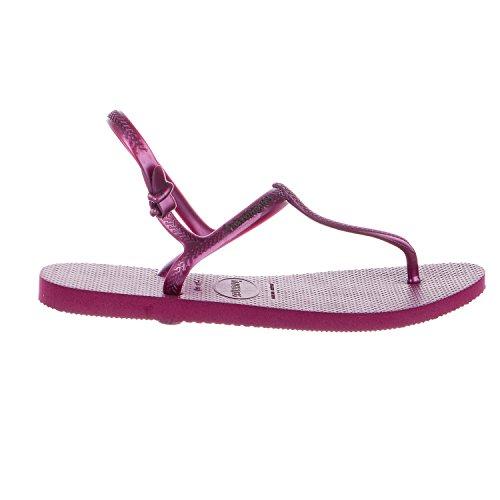 Havaianas Women's Freedom SL Sandal Flip Flop, Acai, 35 BR/6 W US