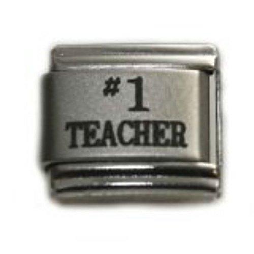 (SEXY SPARKLES #1 Teacher Italian Link Charm for Bracelet)