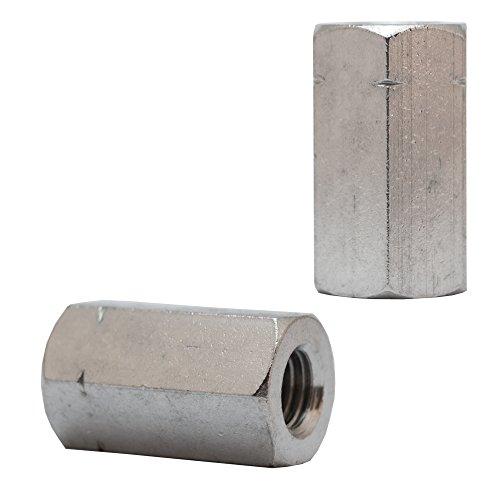 OPIOL KWALITYzeskantmoeren 3 d hoog DIN 6334 roestvrij staal A2 10 stuksmoffenlange moerenhoge moerverlengmoer Buitenzeskant M6