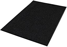 Guardian Platinum Series Indoor Wiper Floor Mat, Rubber with Nylon Carpet, 3\'x11\', Black