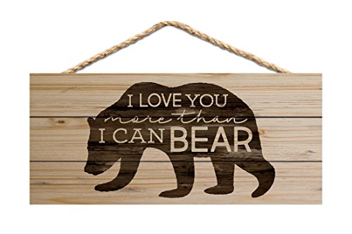 (P. GRAHAM DUNN Love You More Than I Can Bear Natural 10 x 4.5 Wood Wall Hanging Plaque Sign)