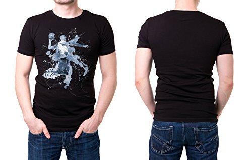 Basketball_IV schwarzes modernes Herren T-Shirt mit stylischen Aufdruck